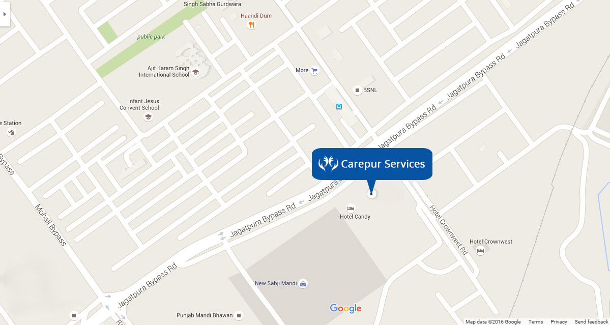 Carepur Address on Map