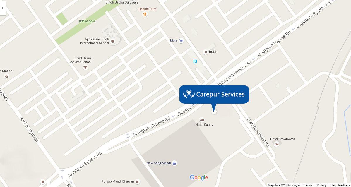 Carepur Address on Map